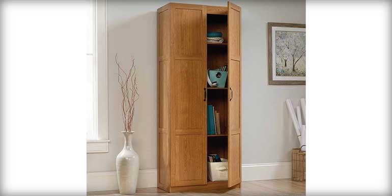 Sauder-Storage Cabinet Oak finish