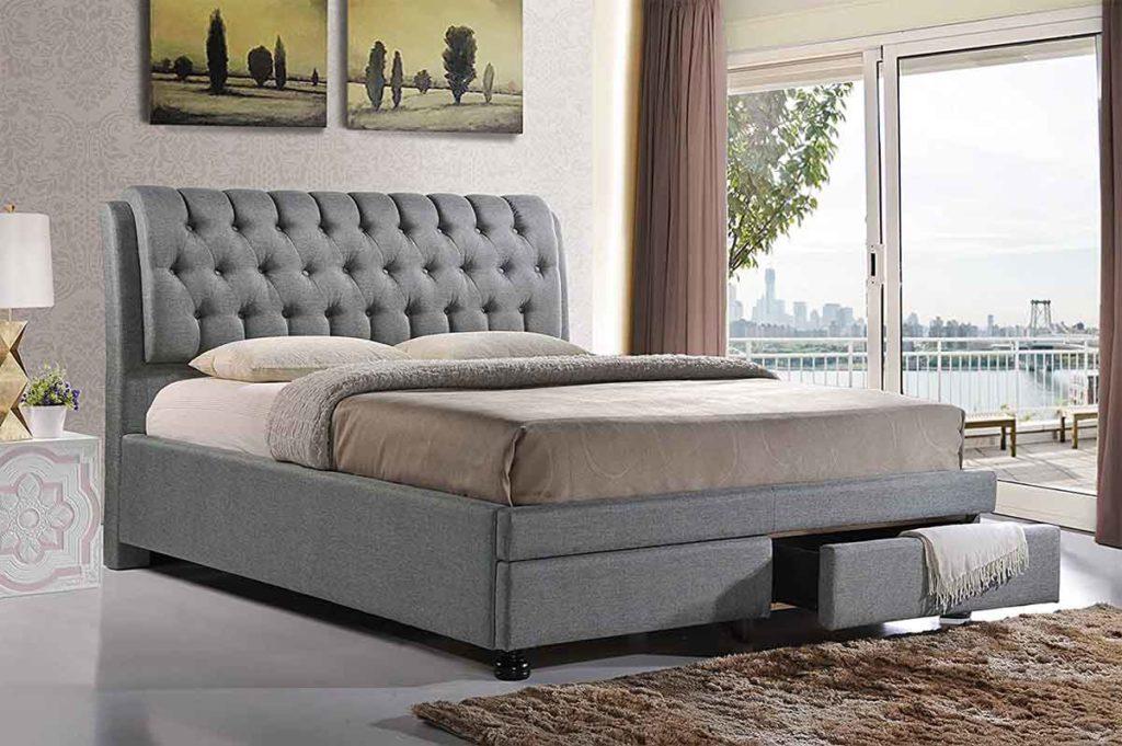 Baxton Studio Ainge Upholstered Storage Bed 2
