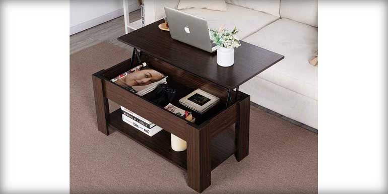 Best Lift-Top Coffee Table by YAHEETECH