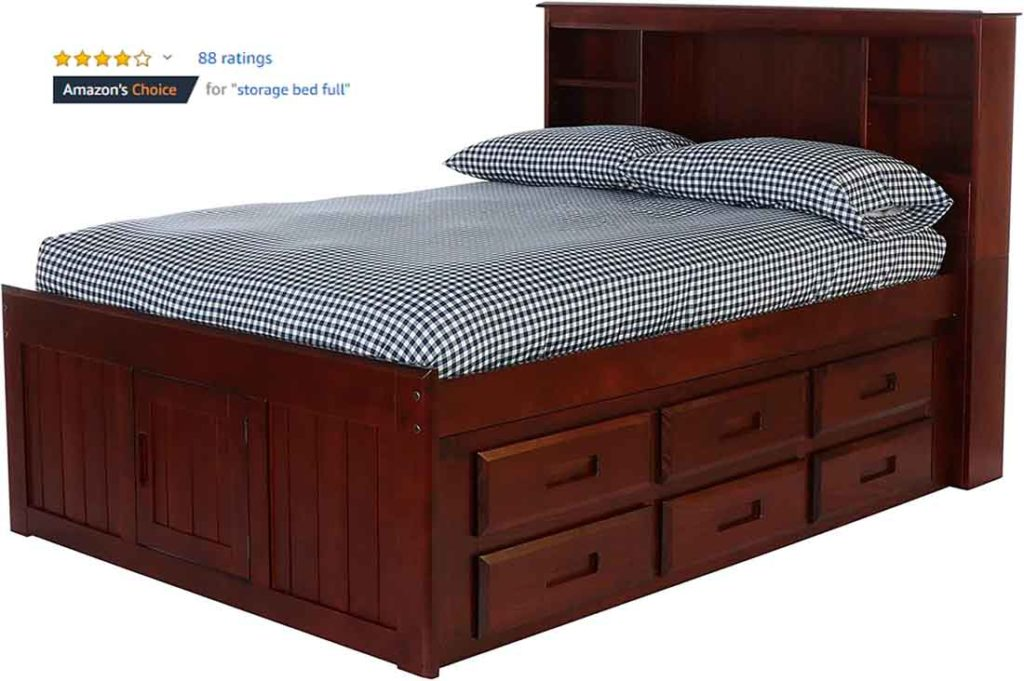 Discovery World Furniture Bookcase Captains Bed 1