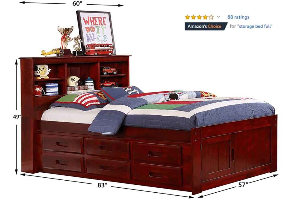 Discovery World Furniture Bookcase Captains Bed 2