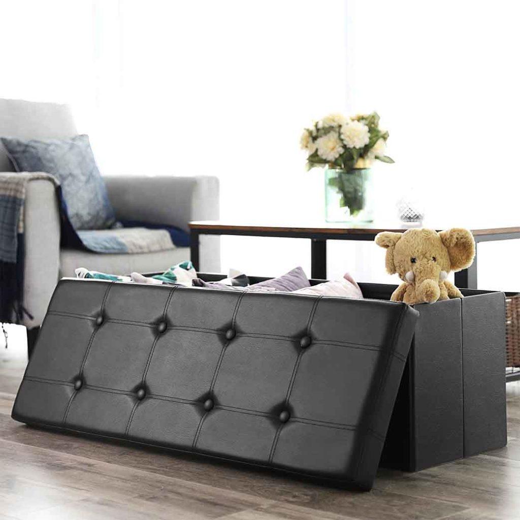 space saving furniture FOLDING STORAGE Ottoman 2