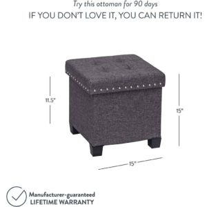 NATHAN JAMES STORAGE OTTOMAN FOOTREST AND SEAT