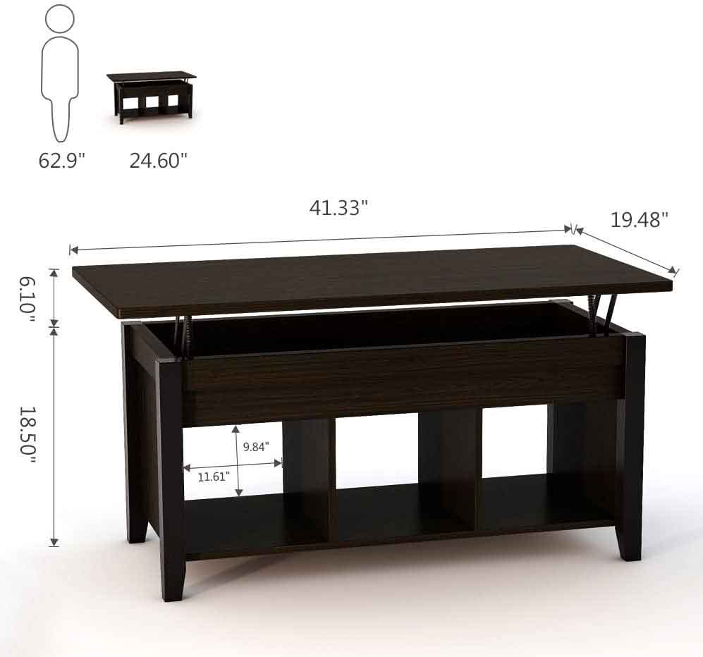 Tribesigns Lift Top Coffee Table 2