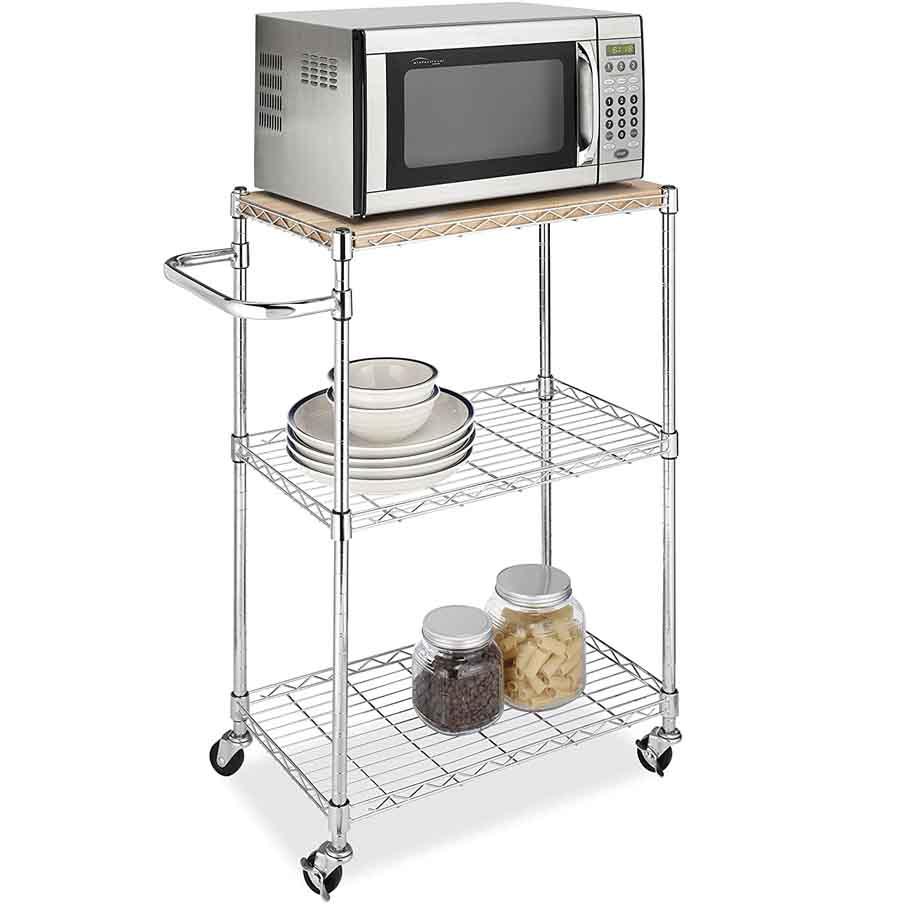 Whitmor Supreme Kitchen and Microwave Island Cart2