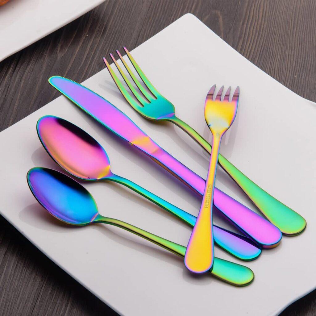 Multicolor Flatware Set
