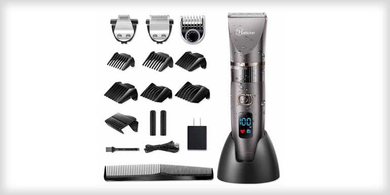 Hatteker Mens Beard Hair Trimmer and Grooming Kit