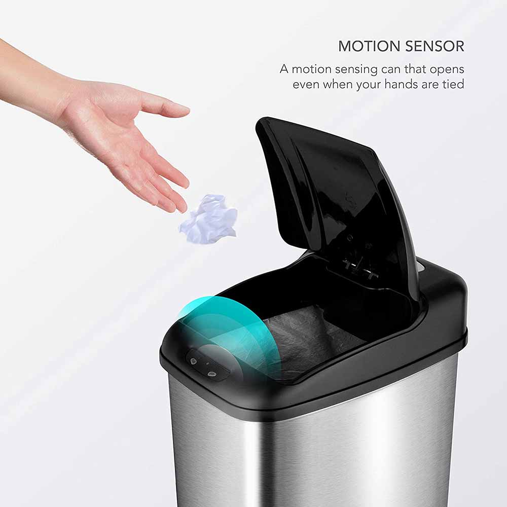 NINESTARS DZT-50-6 Automatic Touchless Trash Can 2