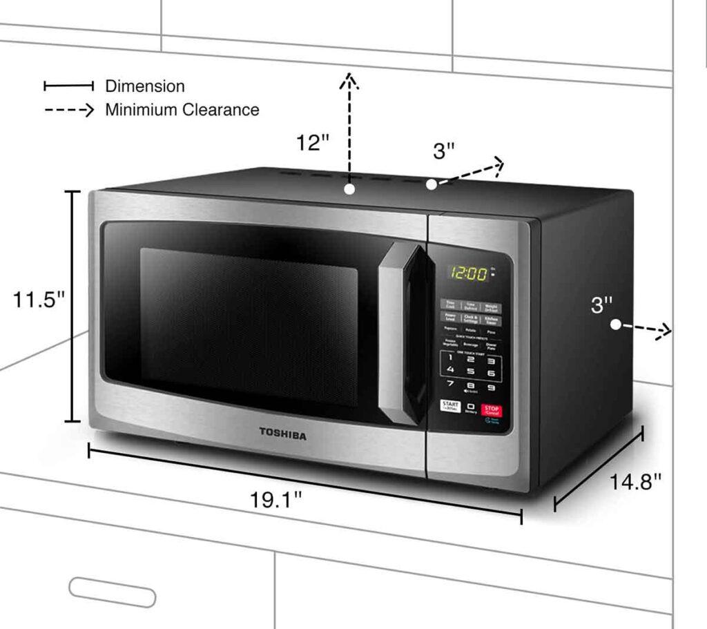 Toshiba EM925A5A SS Microwave Oven 2