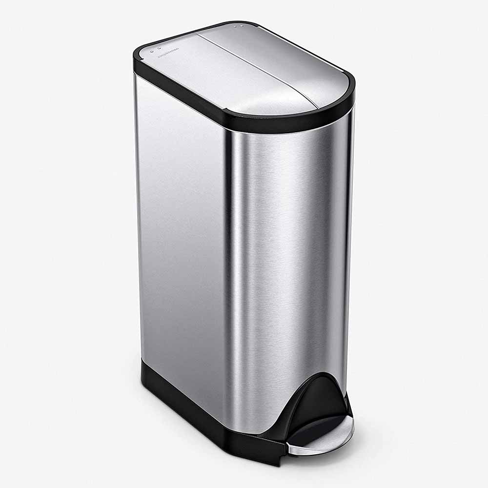 SIMPLEHUMAN BUTTERFLY LID KITCHEN STEP TRASH CAN