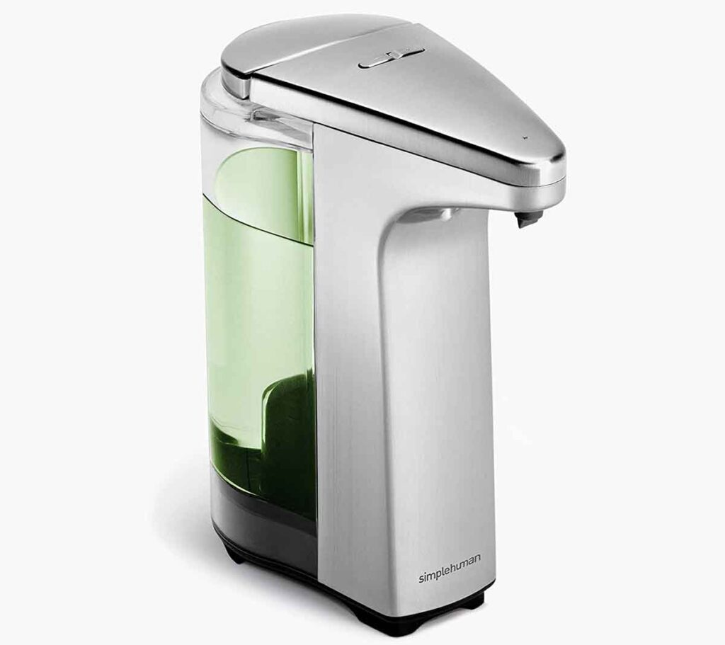 simplehuman Touch Free Sensor Liquid Soap Pump Dispenser 2