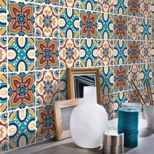 H2MTOOL colorful peel and stick tiles