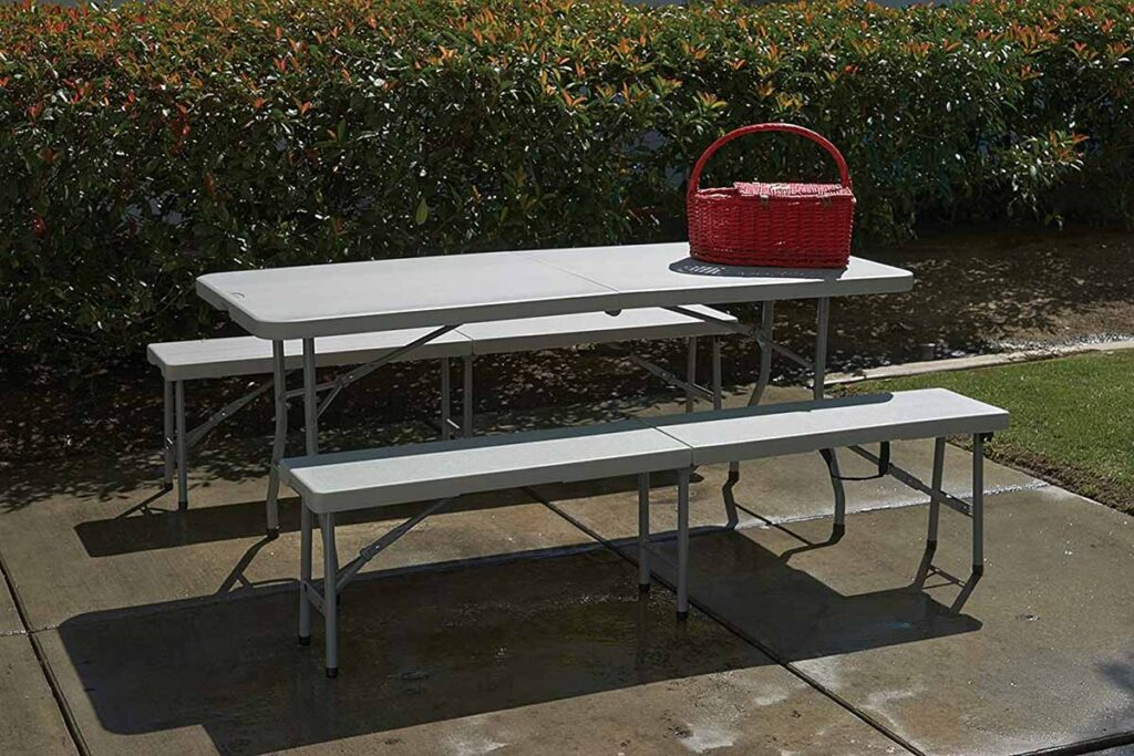 3-Piece Folding Bench and Table Set
