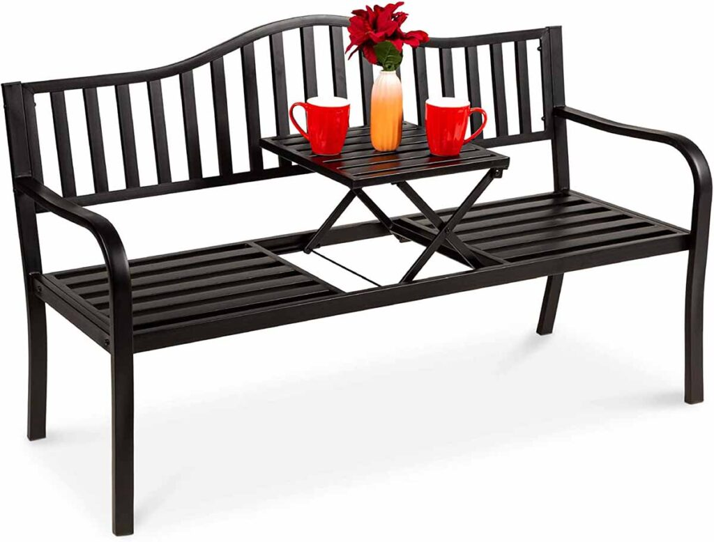 Patio garden bench, table bench
