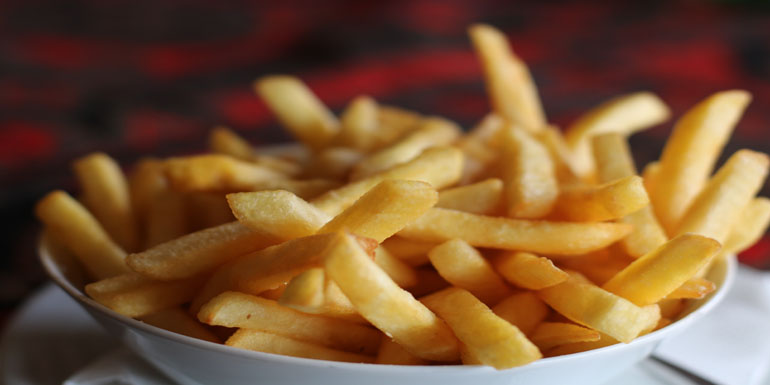 my recipe for making chips in the air fryer using frozen fries